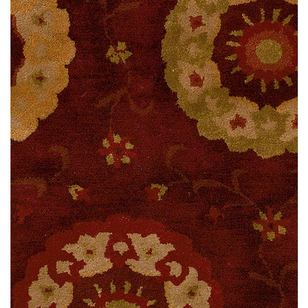 LR Resources Contemporary Chili Red Rug Runner 3 ft. 6 in. x 5 ft. 6 in. Plush Indoor Area Rug