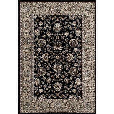 Arabella Accustomed Black 8 ft. x 11 ft. Area Rug