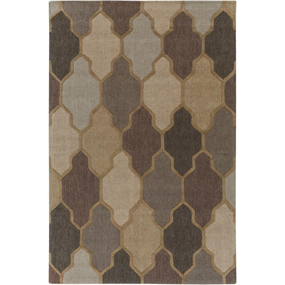 Pollack Morgan Gray 2 ft. x 3 ft. Indoor Accent Rug