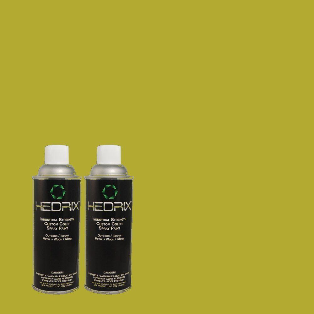 Hedrix 11 oz. Match of S-H-400 Rolling Hills Semi-Gloss Custom Spray Paint (2-Pack)