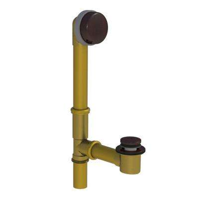 598 Series 24 in. Tubular Brass Bath Waste with Foot Actuated Bathtub Stopper, Oil-Rubbed Bronze