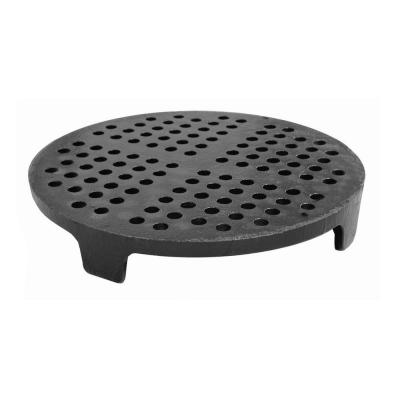 5-1/2 in. OD Cast Iron Perforated DWV Strainer with Legs for 4 in. Clay Sewer Pipe