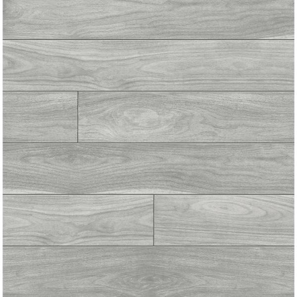 Grey Teak Planks Peel and Stick Wallpaper 30.75 sq. ft.