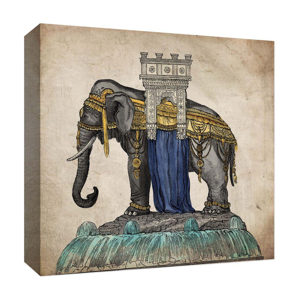 Ptm Images Asiatic Elephant Ii By Ptm Images Canvas Abstract Wall Art 15 In X 15 In 9 127416 The Home Depot