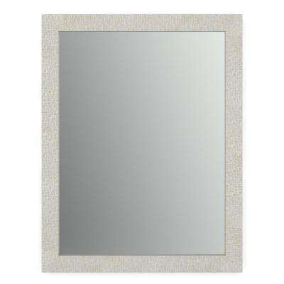 28 in. x 36 in. (M1) Rectangular Framed Mirror with Standard Glass and Easy-Cleat Float Mount Hardware in Stone Mosaic