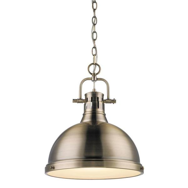 Duncan Collection 1-Light Aged Brass Pendant