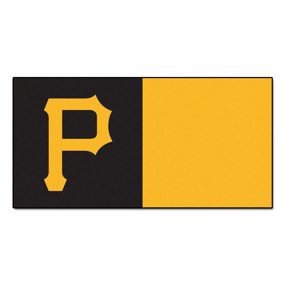 MLB - Pittsburgh Pirates Yellow and Black Nylon 18 in. x