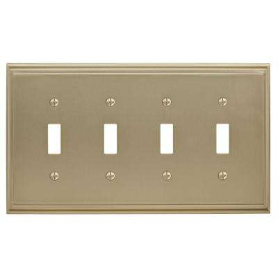 Mulholland 4-Toggle Wall Plate, Golden Champagne