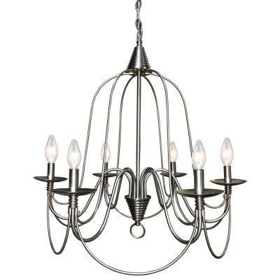 Blakely 6-Light Brushed Nickel Chandelier