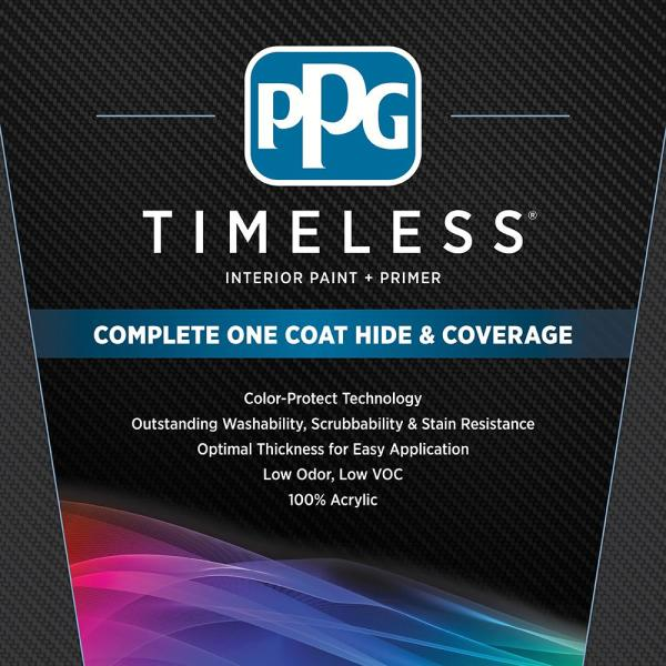 Reviews For Ppg Timeless 1 Gal Hdppgwn46 Soft Suede Semi Gloss Interior One Coat Paint With Primer Hdppgwn46 01sg The Home Depot