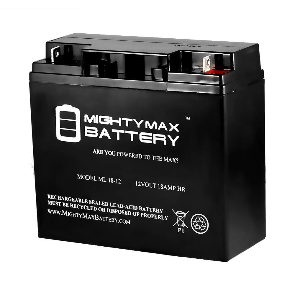 12-Volt 18 Ah Sealed Lead Acid (SLA) Rechargeable Battery