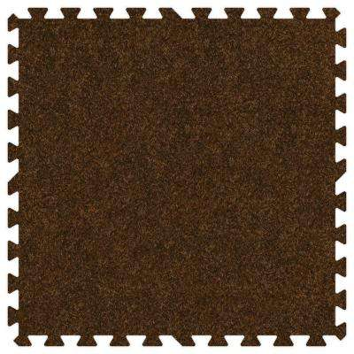 Brown 24 in. x 24 in. Comfortable Carpet Mat (100 sq. ft. / Case)