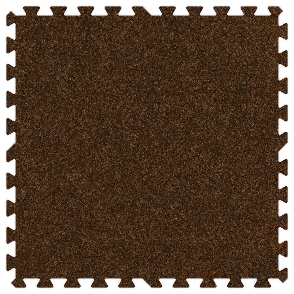 Groovy Mats Brown 24 in. x 24 in. Comfortable Carpet Mat (100 sq. ft. / Case)