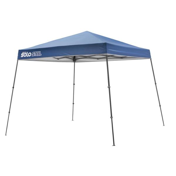 10 ft. x 10 ft. Straight-Leg Pop-Up Instant Canopy in Midnight Blue with Corrosion-Resistant Frame, 64 sq. ft. of Shade