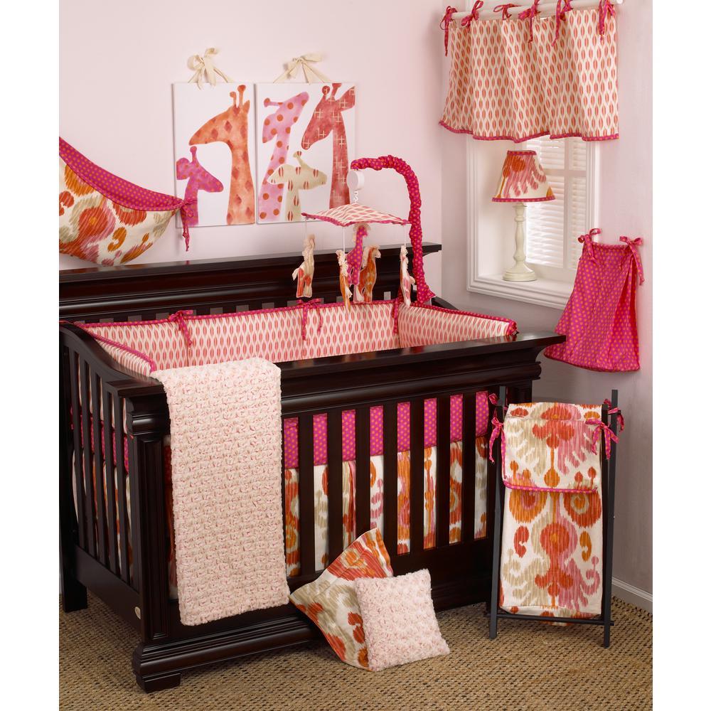 Sundance Pink Ikat 4-Piece Crib Bedding Set
