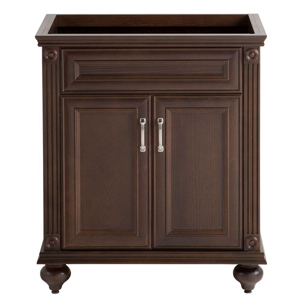 Home Decorators Collection Annakin 30 in. W x 34 in. H x 22 in. D Bath Vanity Cabinet Only in Cognac