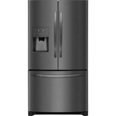 22 cu. ft. French Door Refrigerator in Black Stainless Steel Counter Depth ENERGY STAR