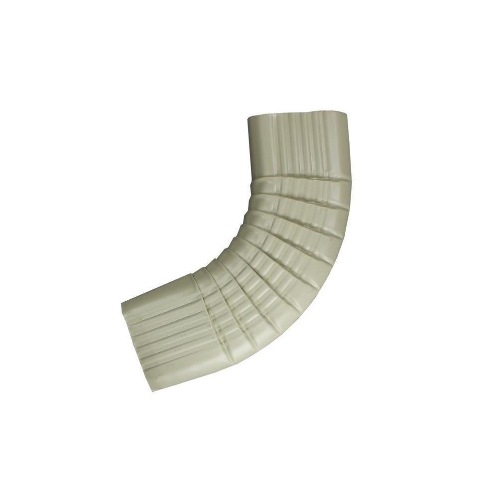 Spectra Metals 3 in. x 4 in. Wicker White Aluminum Downpipe - B Elbow