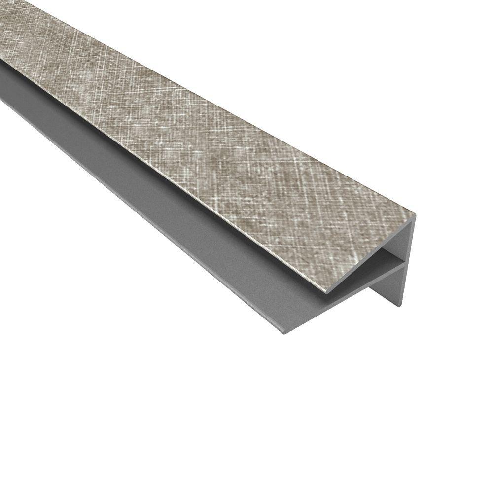 4 ft. Large Profile Crosshatch Silver Outside Corner Trim