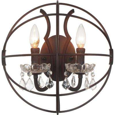 Campechia 2-Light Brown Sconce