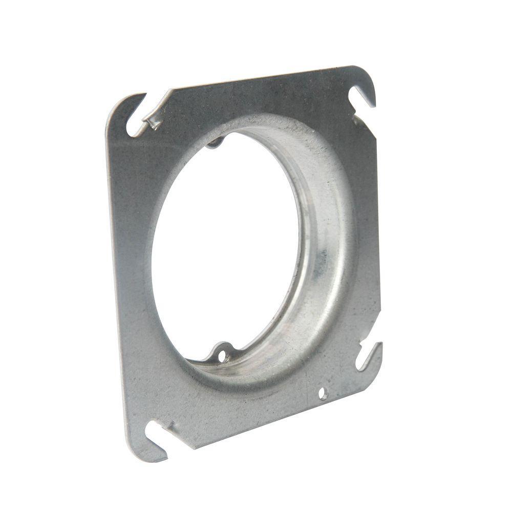 4 in. Pre-Galvanized Steel 3/4 in. Raised 4.3 cu. in. Square Box Cover (Case of 25)