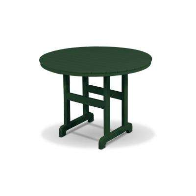 Monterey Bay Rainforest Canopy Plastic Round Outdoor Dining Table