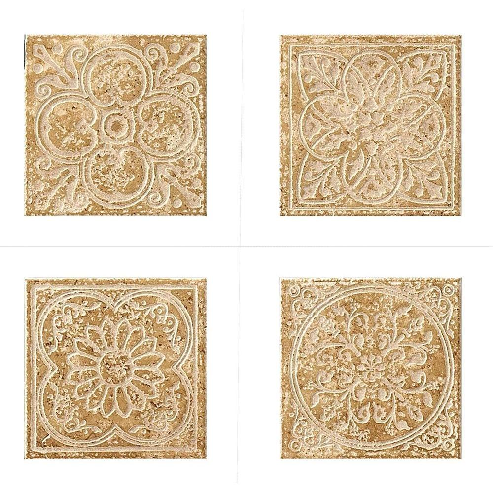 MARAZZI Montagna Cortina 6 in. x 6 in. Porcelain Embossed Deco Floor ...