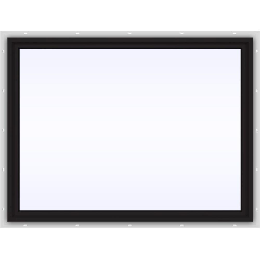 JELD-WEN 47.5 in. x 35.5 in. V-4500 Series Fixed Picture Vinyl Window in Black