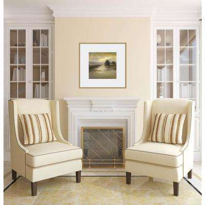27 in. x 27 in. 'Waters Edge I' by Sheila Finch Fine Art Paper Print Framed with Glass Wall Art