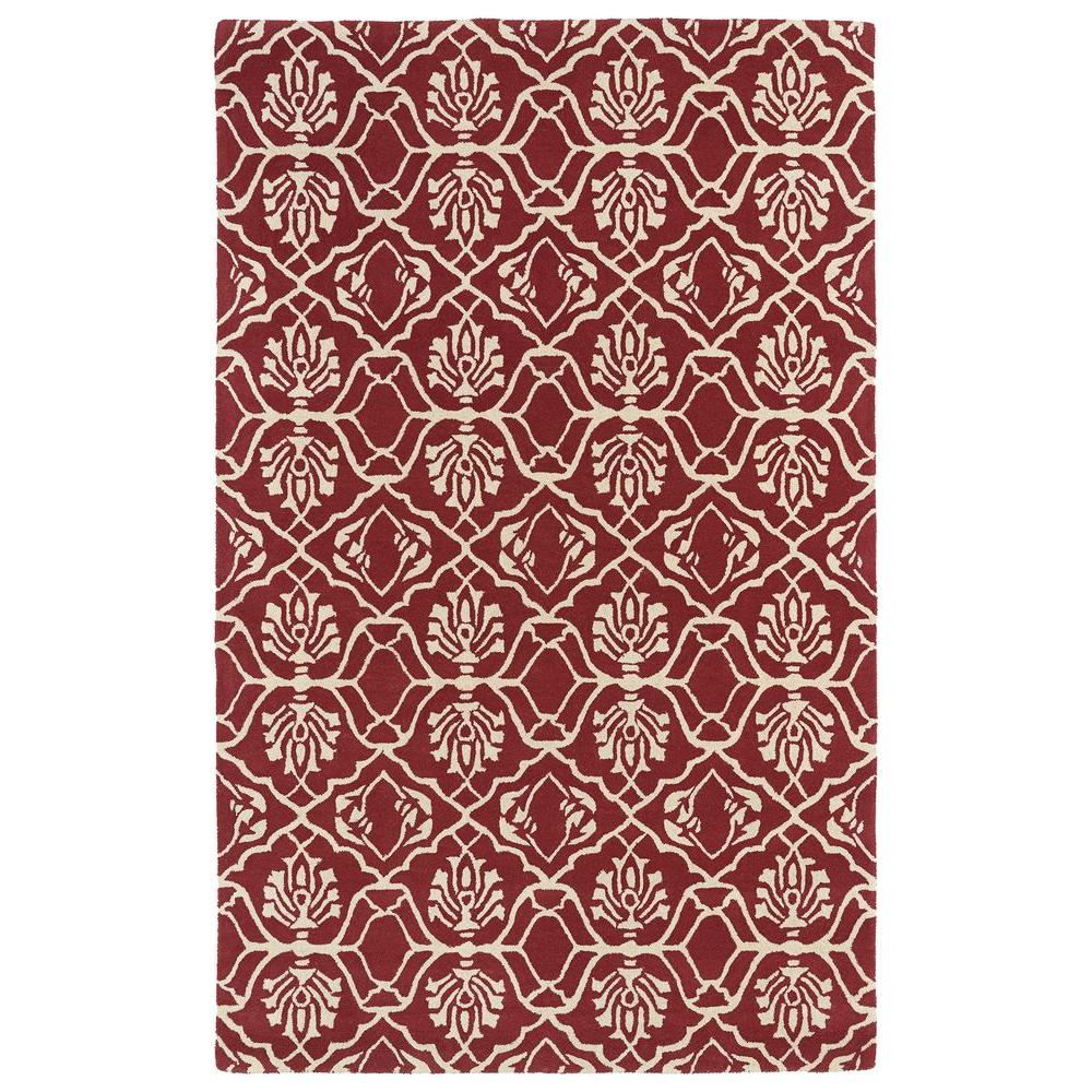 Evolution Berry 3 ft. x 5 ft. Area Rug