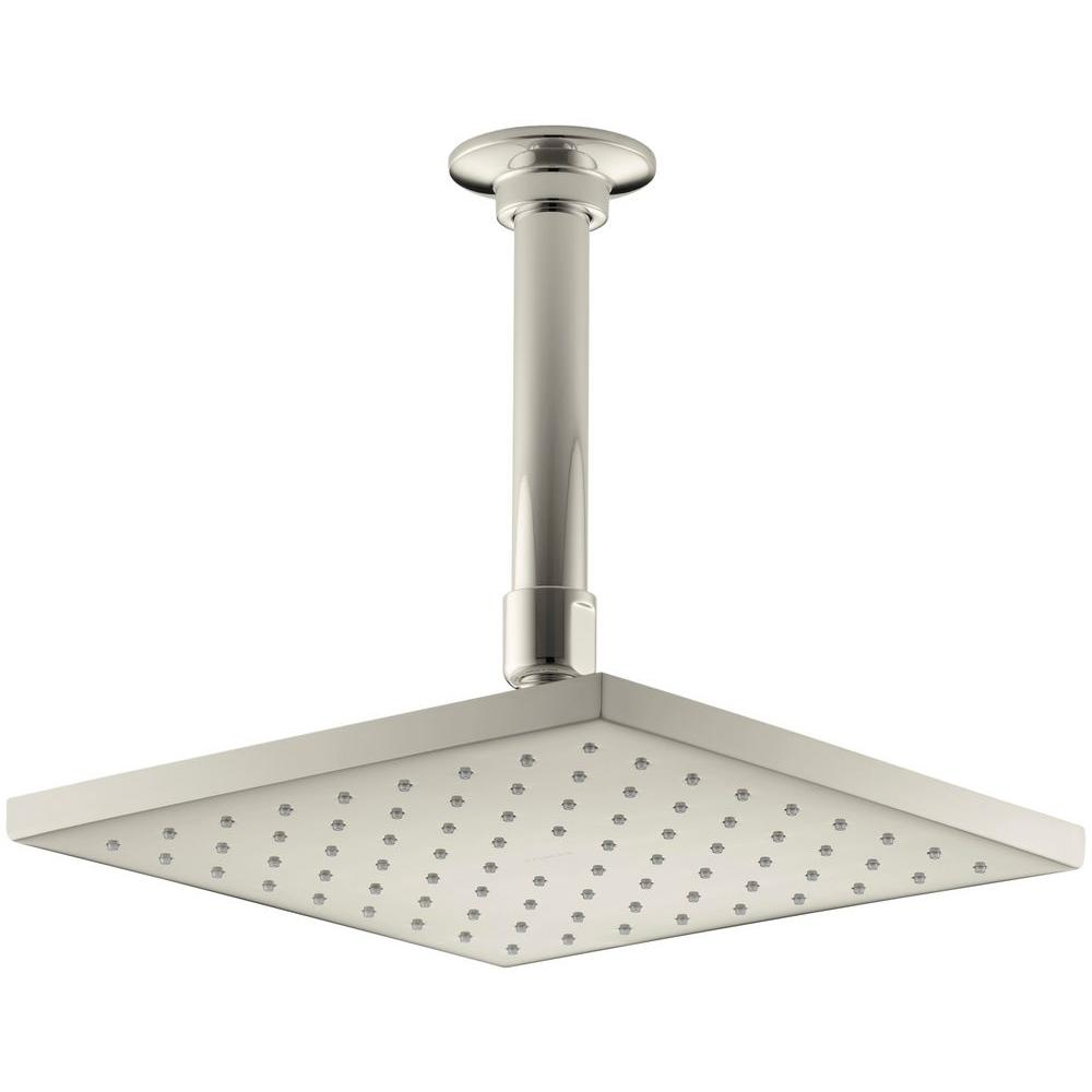 1-spray Single Function 8 in. Raincan Contemporary Square Showerhead with