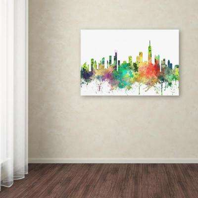 """22 in. x 32 in. """"Chicago Illinois Skyline SP"""" by Marlene Watson Printed Canvas Wall Art"""
