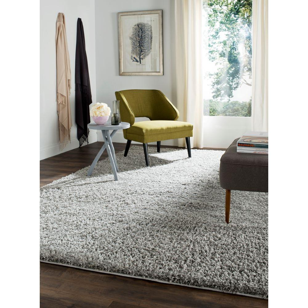 Safavieh Athens Shag Light Gray 10 Ft X 14 Ft Area Rug