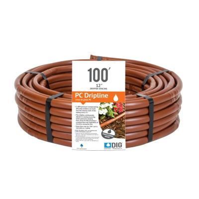 Copper Shield x 50 Ft Sub-Surface Garden Drip Emitter Tubing Coil 1//2 In
