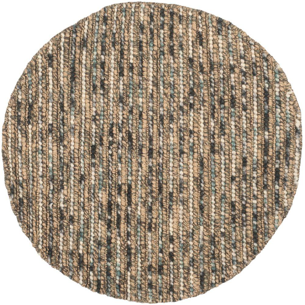 Bohemian Blue/Multi 4 ft. x 4 ft. Round Area Rug