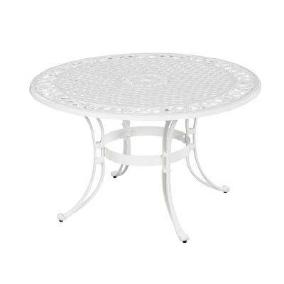 Biscayne 48 in. White Round Patio Dining Table