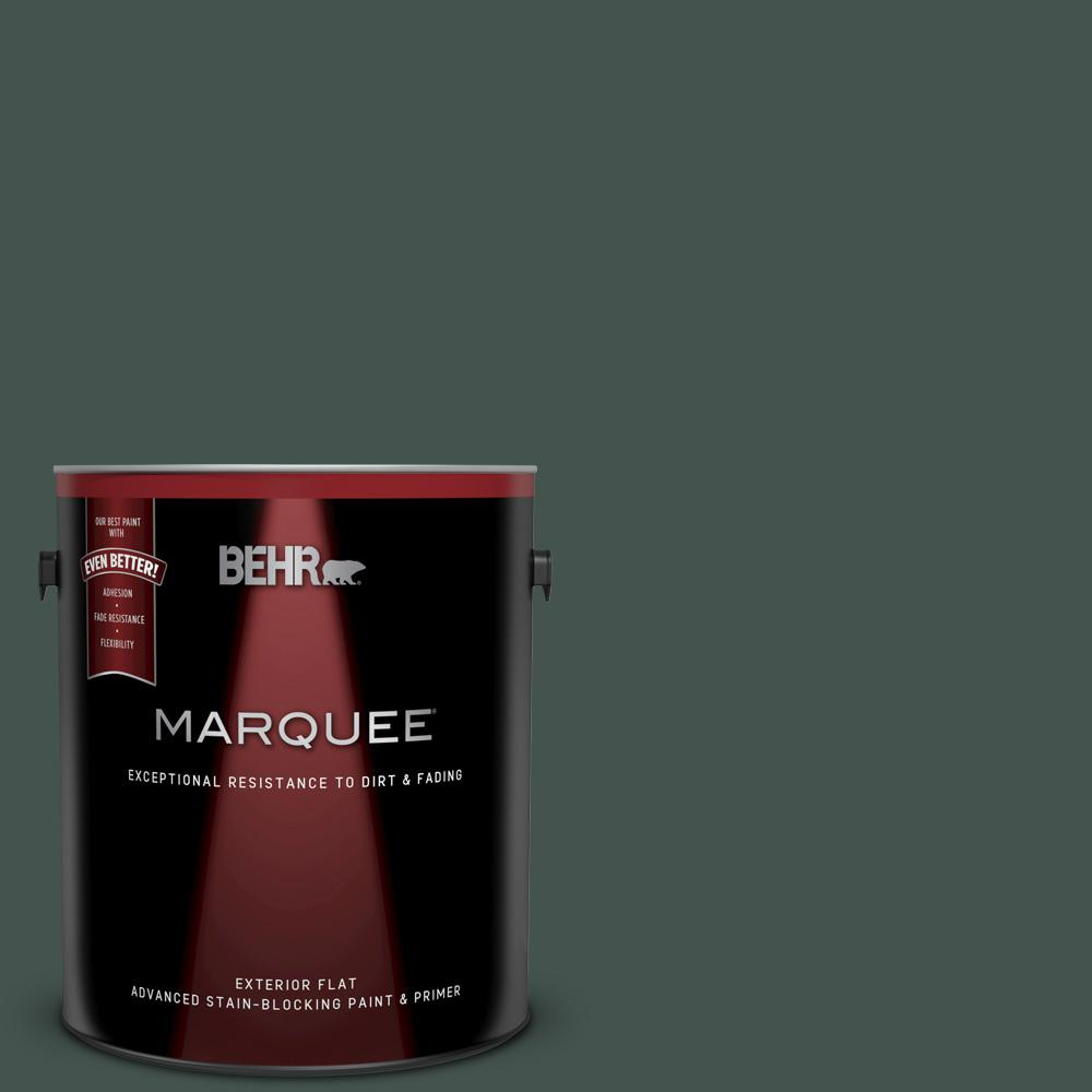 Behr Marquee 1 Gal 460f 7 Hazel Woods Flat Exterior Paint And Primer In One 445301 The Home Depot
