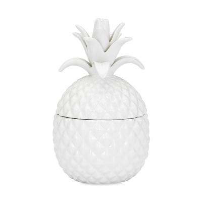 White Ceramic Lidded Pineapple
