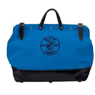 Klein Tools 16 In. Canvas Tool Bag, Blue-DISCONTINUED