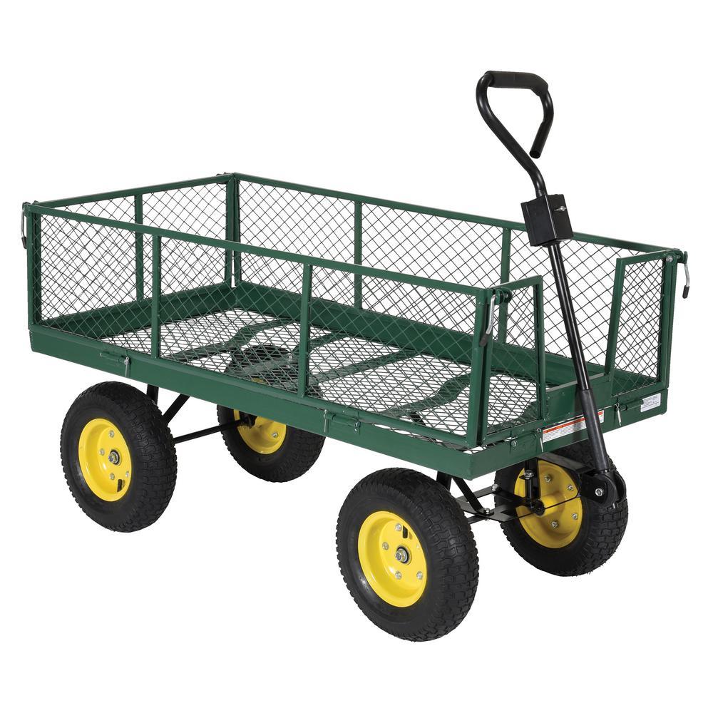 Vestil 1,000 lb. Landscape Cart With Fold Down Side