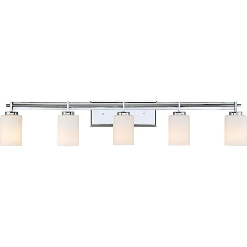 Taylor 5-Light Polished Chrome Vanity Light
