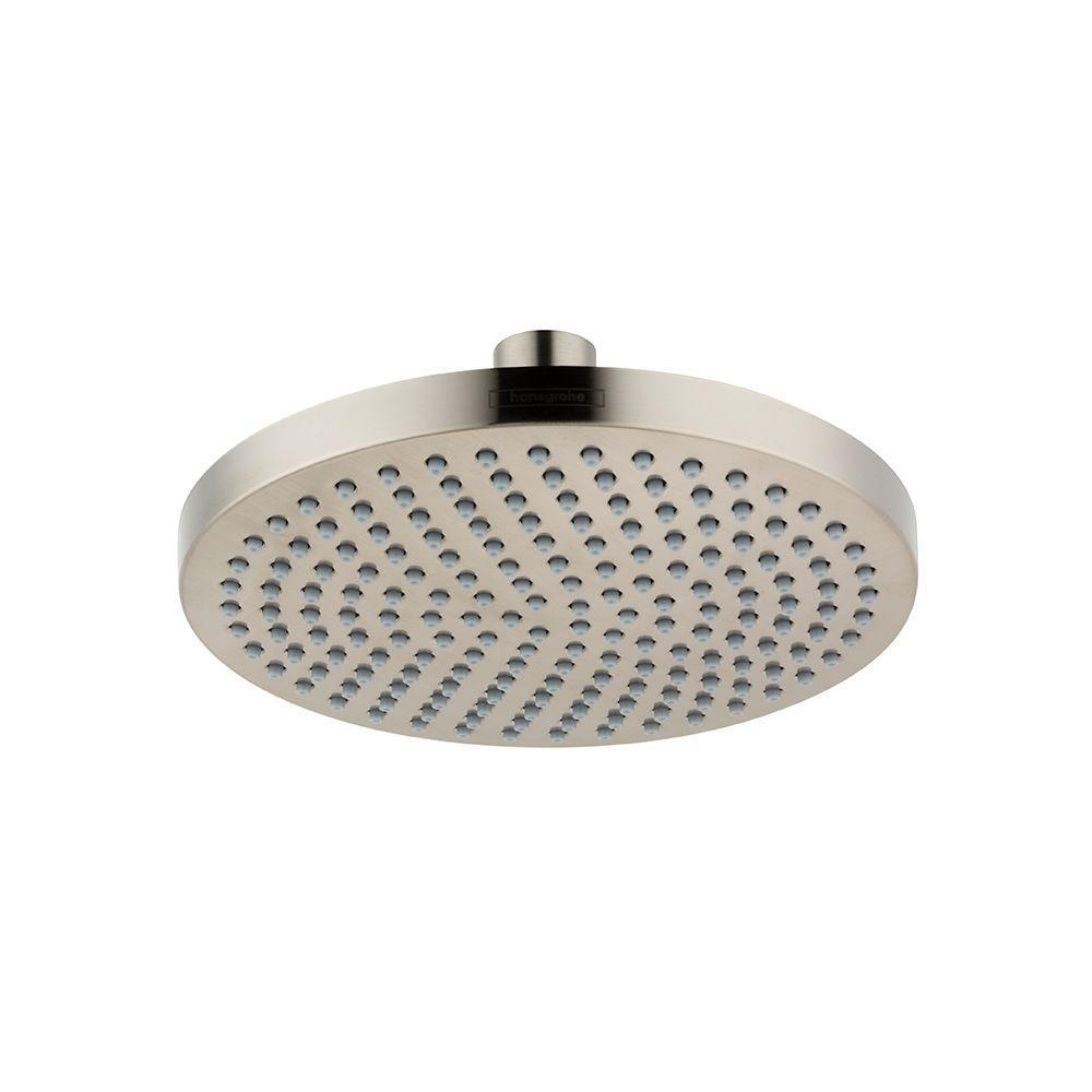 Hansgrohe Croma 160 1-Spray 6.25 in. Showerhead in Brushed Nickel