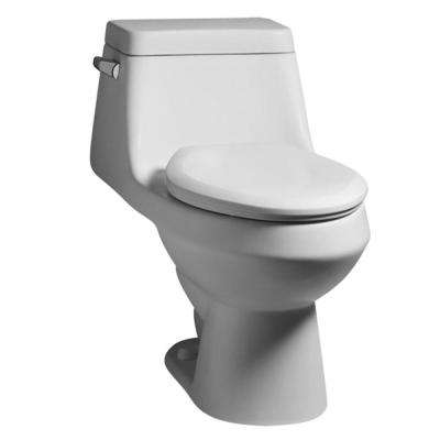 Fairfield 1-piece 1.6 GPF Single Flush Elongated Toilet in White with Seat