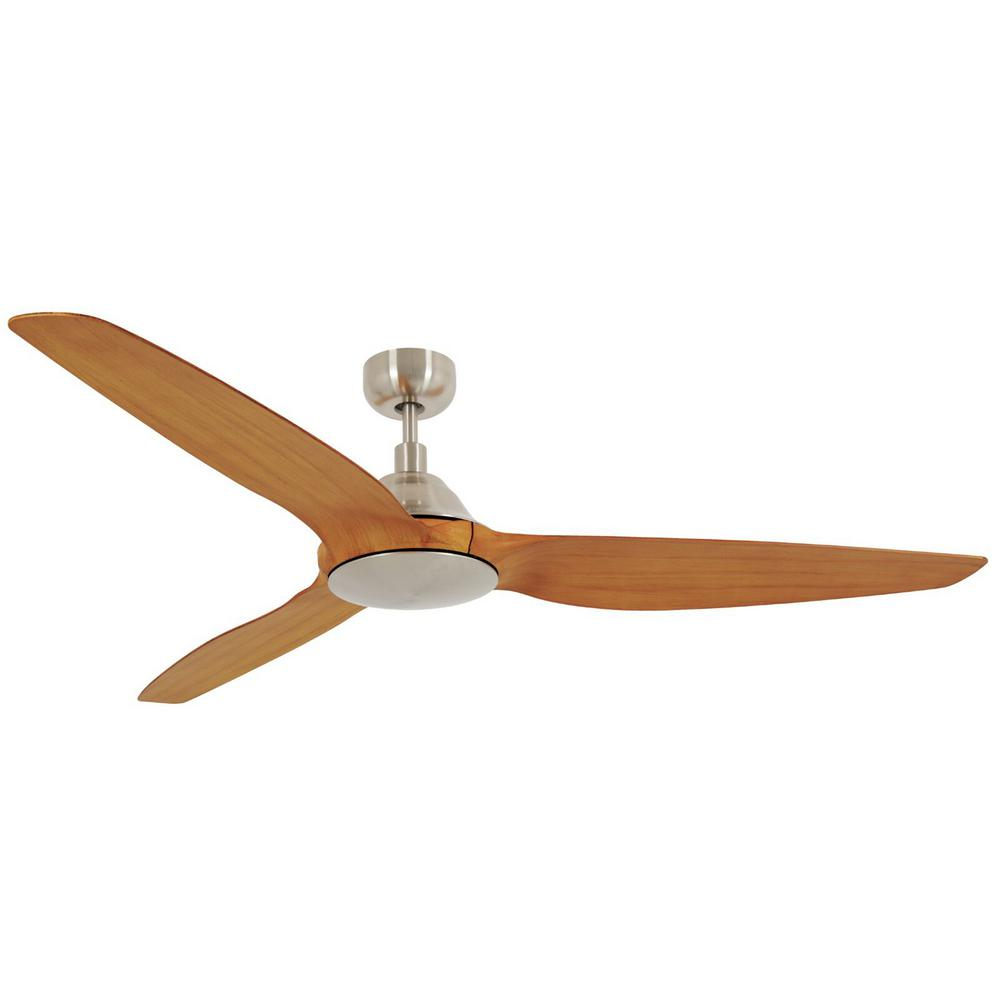 Lucci Air Airfusion 60 In Brushed Chrome Type A Ceiling Fan With Remote