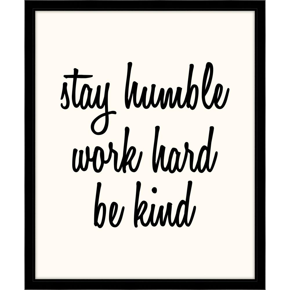 "Melissa Van Hise 24 In. X 20 In. ""Stay Humble, Work Hard"