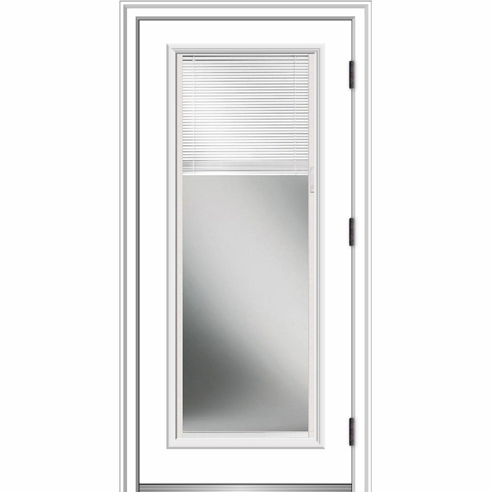 32 In X 80 Internal Blinds Left Hand Outswing Full Lite