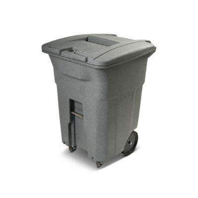96 Gal. Graystone Document Trash Can with Wheels and Lid Lock (2 caster wheels 2 stationary wheels)