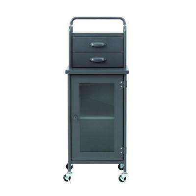 Steel 2-Drawer Cart in Grey