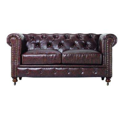 Gordon Brown Leather Loveseat