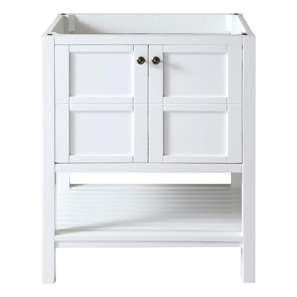 Virtu USA Winterfell 29 in. Vanity Cabinet Only in White-DISCONTINUED